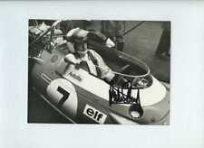 Jackie Stewart Matra MS80 F1 Portrait 1969 Signed Press Photograph