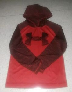 NWT UNDER ARMOUR BOYS RISK RED LIGHTWEIGHT PULLOVER HOODIE HOODY