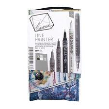 Derwent Graphik Line Painter Palette 4 - Set of 5 Paint Pens - Neutral