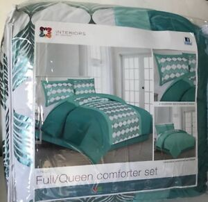Interiors by Design 3 Piece Full/Queen Reversible Comforter Set W/ Shams -U-Pick