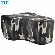 JJC OC-MC3GR Waterproof Neoprene Camera Gary Camouflage Bag for DSLR with Lens