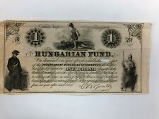 HUNGARIAN FUND 1852  one dollar