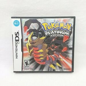 Pokemon Platinum Version (Nintendo DS, 2009) Authentic Case Only - No Game