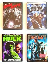 Comic book movies 4 Dvds: Sin City, Doom, The Incredible Hulk, Hellboy