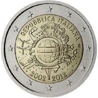 2 Euros Commémorative Italie 2012 10 Ans de l'Euros - UNC