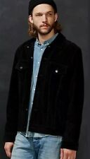 Black Suede leather jacket Deus ex machina Urban Outfitters Django Size Large