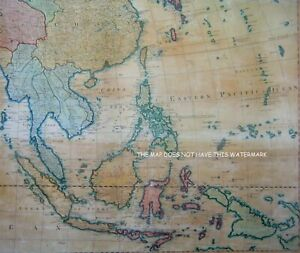 ASIA EMPIRES STATES KINGDOMS AND ISLANDS 1787 MAGNIFICENT OVERSIZE HARDBACK MAP