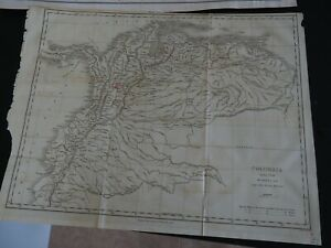 """Antique Map """"Colombia taken from Humboldt and other Recent Authorities"""""""