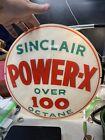 Sinclair Gas Pump Single Glass Lens / Power -x Over 100 Octane-