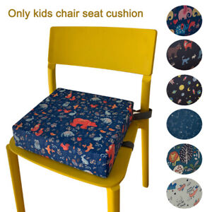 Kids Booster Seat Cushion Double Straps Dining Table Toddler High Chair Portable