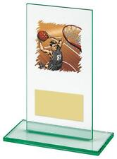 Jade Glass Basketball Trophy,120mm,FREE Engraving (T0650) CL