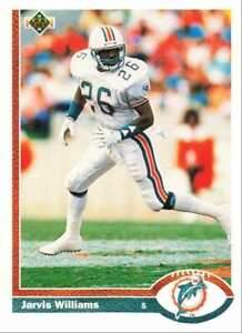 1991 Upper Deck Football Jarvis Williams Miami Dolphins #51