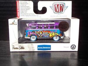 M2 Machines VW Hippie Bus Volkswagen Super Chase 1 of 108 Blue Tire 1/64 Diecast