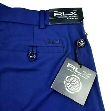 RLX Ralph Lauren Golf Solid Navy Blue Performance Stretch Shorts Pockets Sz 36