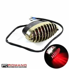 E-Mark E4 Retro Motorcycle Taillight Rear Lamp With Brass Light Grill For Harley
