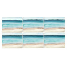 Pimpernel Coastal Shore Placemats, Set of 6 Seaside Beach Shells Table Mats