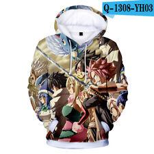 Anime Fairy Tail Cosplay Printing Hoodie Jacket pullover Hooded Coat Sweatshirt