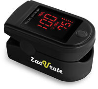 Zacurate 500DL Pro Series Fingertip Pulse Oximeter SpO2 Meter O2 Monitor Meter