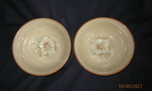 DENBY DAYBREAK 2 x SOUP CEREAL BOWL 16½CM FIRST QUALITY