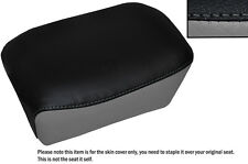GREY & BLACK CUSTOM FITS AJS REGAL RAPTOR DD 250 E REAR LEATHER SEAT COVER