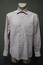 CORNELIANI Herren Hemd Gr. 41 , 16 , L Shirt kariert Baumwolle Italy #18