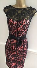 Black Lace Backless Mini Dress Size 10 Elise Ryan Dress Asos