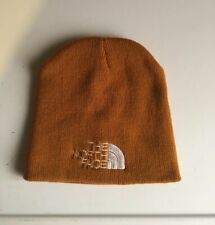 The North Face Spellout Logo Tan Men's Beanie / Knit Hat