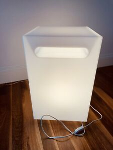 LED Cube Bedside/Living Room Table or Light Feature 565 x 350 x 350mm   As New