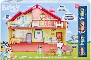 Bluey Mega Bundle Heller Family Home & BBQ Playset, and 4 Figures