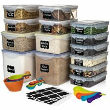 Set of 28 Pc Food Storage Containers (14 containers) - Shazo Airtight Dry Foo...