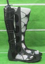 NEW ladies black Open/peep Toe Strap Sexy Summer Gladiator  SANDAL Size  8.5