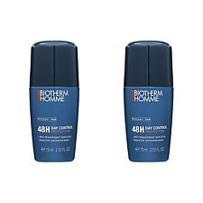 2 PCS Biotherm Homme48H Day Control Protection Non-Stop Anti-Perspirant 75ml
