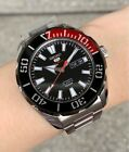 SRPC57K1 Automatic Black & Red Day & Date Dial Silver Steel Watch for Men <br/> Seiko 5, COD, Free Ship, Meet Up, PayPal Accepted