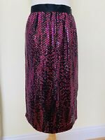 Clearance Escada By Margaretha Ley Pink & Black Sequined Skirt Size 38 Skirt