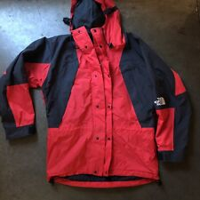 Men's Vintage The North Face Gore-Tex Mountain Light Red Black Parka Jacket Sz S