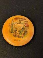 Vintage Original Idaho Esto Perpetua Pinback Button Whitehead Hoag Advertising