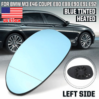 Left Side Wind Rearview Mirror Glass Blue Tinted For BMW E46 3 Series M3 01-06