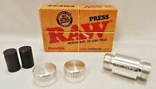 2X NEW! Raw Rolling Papers Brand American Made Die-Hard Aluminum Pollen Press