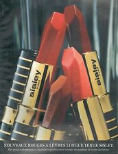 ▬► PUBLICITE ADVERTISING AD SISLEY Paris Rouge à Lèvres Longue Tenue 1997