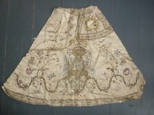 Highly unusual antique metal foil embroidery, probably a dress for a madonna