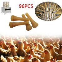 96pc/Set Chicken Plucker Picker Poultry Fingers Duck Goose Hen Hair Removal Rods