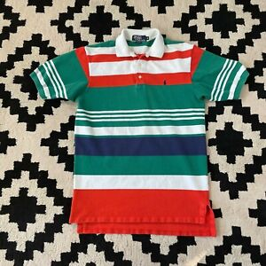 Vintage Polo Ralph Lauren Color Block Striped Polo, Men's M- Made in USA