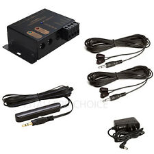 Infrared Remote Extender 2 Emitters 1 Receiver Hidden IR Repeater System Kit