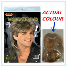 10 X MULLET NOVELTY HAIR WIG - SANDY BLONDE COLOUR COLOR - ADULT PARTY CUSTOM A