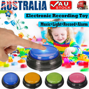 Recordable Talking Button LED Learning Resource Answer Buzzer Kid Education Gift