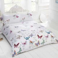 Mariposa Schmetterling Einzelbettbezug Set Mädchen Weiß / Multi