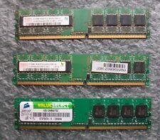 Paquete De 3 X 512 MB PC2-5300 DDR2 Ram