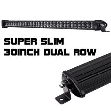 "30""in 180W Single Row LED Light Bar Super Slim Spot Combo Beam 6000K BWM SUV ATV"