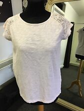 Ladies Soaked In Luxury T-Shirts with Lace, Pale Pink Size S