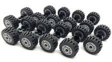 10 SETS of LEGO WHEELS (20 tires/10 axles) truck car vehicle lot 30.4 x 14 mm